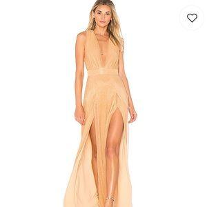 Lovers + Friends Rose Gold Event Dress